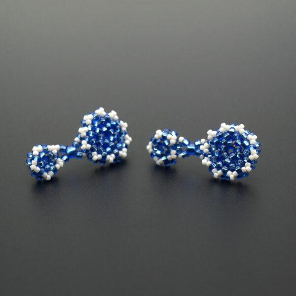 Kolczyki Pottery Niebieskie